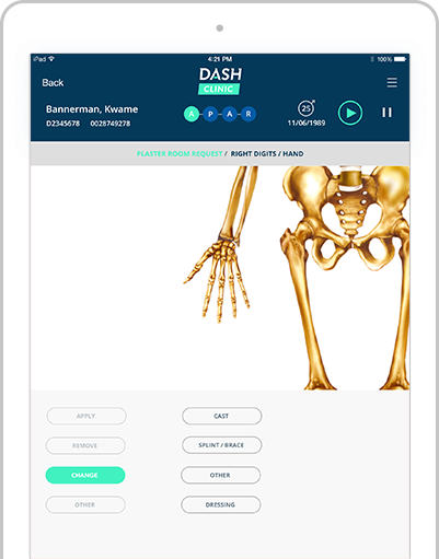 iPad DASH clinic